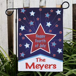 Personalized Happy 4th Garden Flag | Personalized Garden Flags