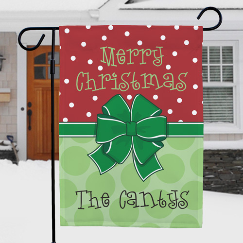 Personalized Merry Christmas Garden Flag | Personalized Christmas Flags