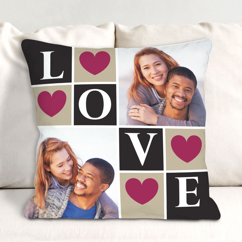 Love Photo Collage Throw Pillow | Romantic Home