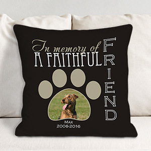 Personalized Faithful Friend Photo Throw Pillow 83070383