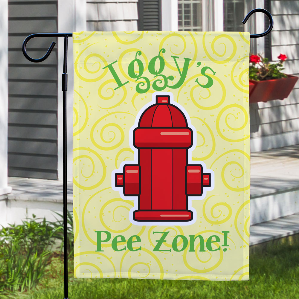 Personalized Pee Zone Garden Flag 83073162