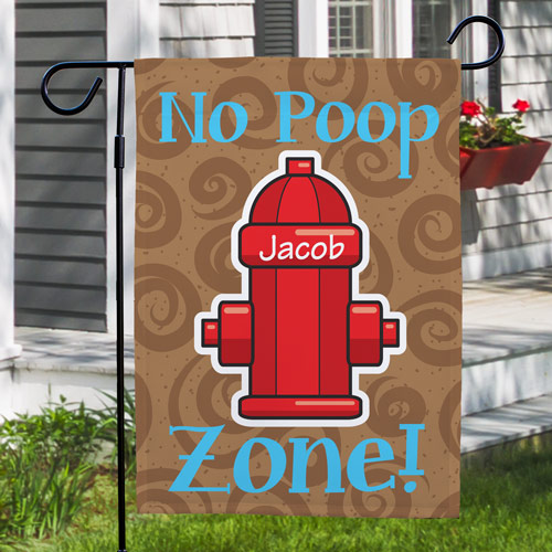No Poop Zone Garden Flag 83073172