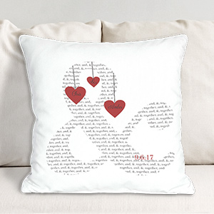 Personalized & Love Throw Pillow 83073363x