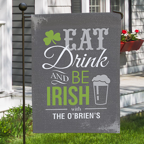 Personalized Irish Welcome Garden Flag 83074072