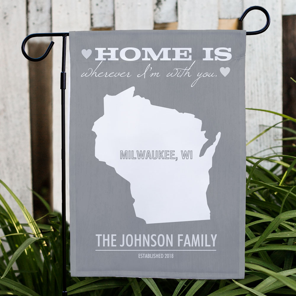 Personalized Home State Garden Flag | Personalized Garden Flags