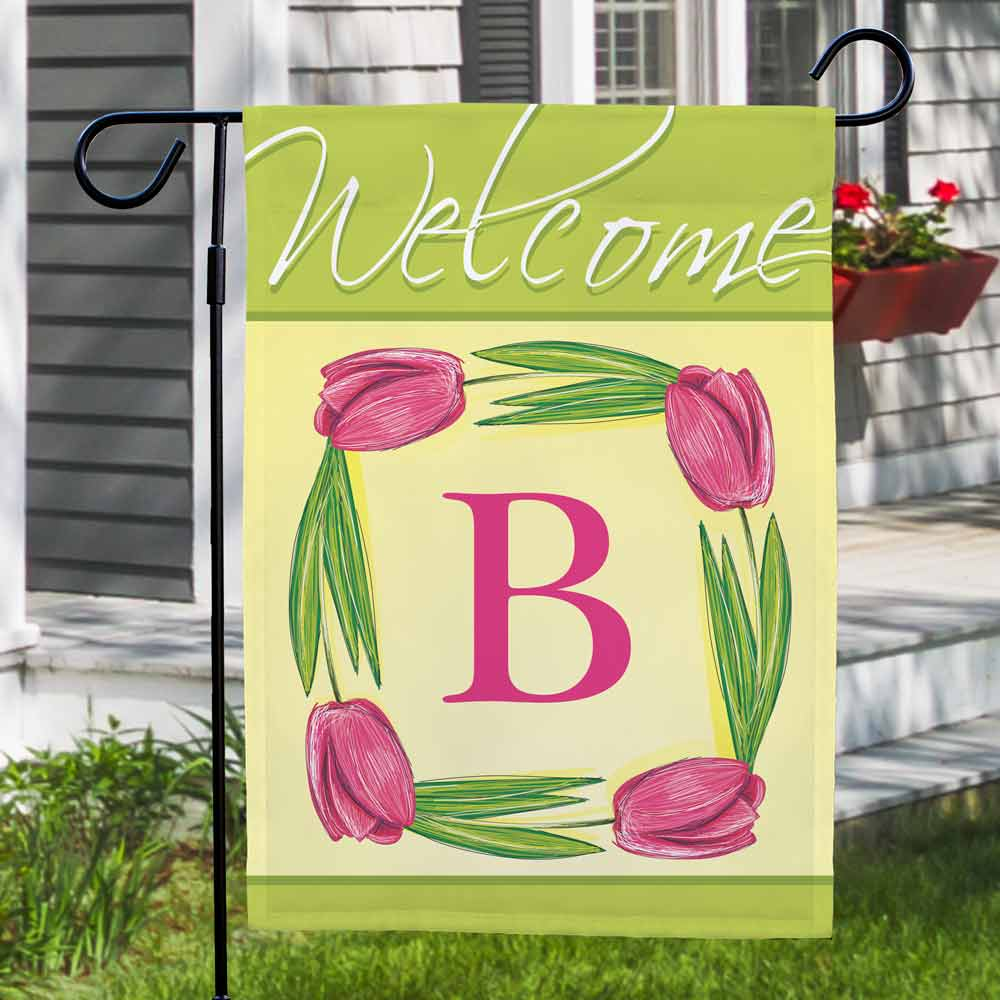 Personalized Spring Tulips Flag | Personalized Garden Flags