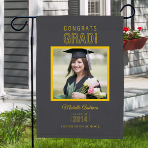 Personalized Congrats Grad Photo Garden Flag 83075312