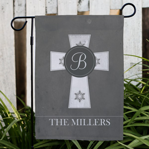 Personalized Family Cross Garden Flag | Personalized Garden Flags