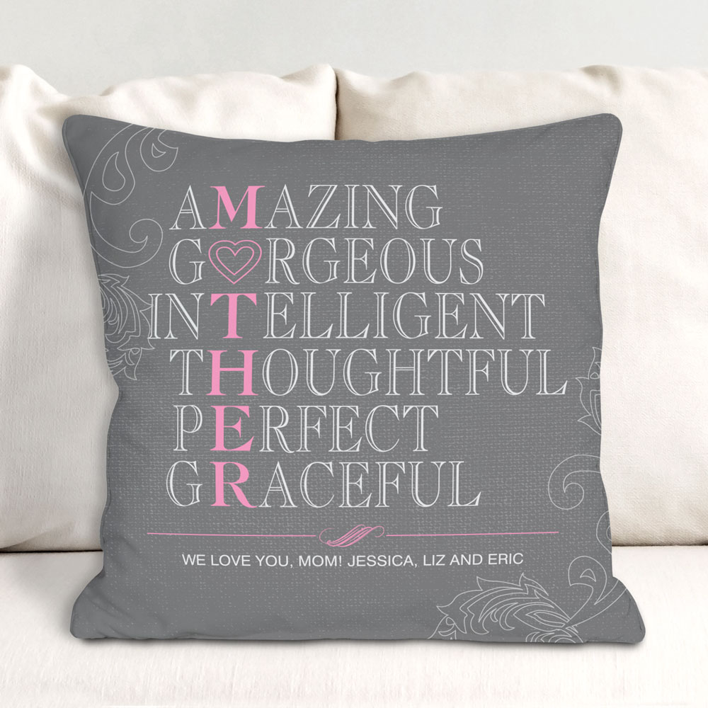 Personalized Mother Throw Pillow | Mom Pillow