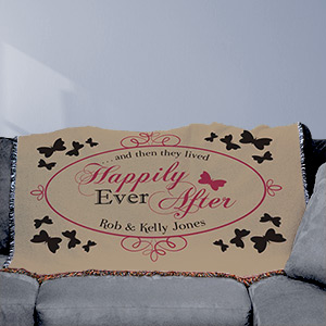 Personalized Wedding Tapestry Throw Blanket