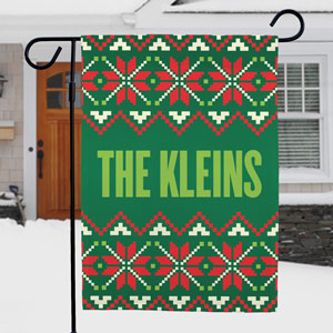 Christmas Garden Flag | Personalized Christmas Flags