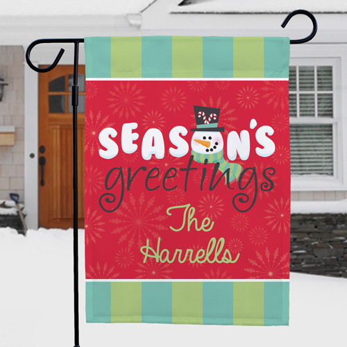 Winter Garden Flag | Personalized Christmas Flags