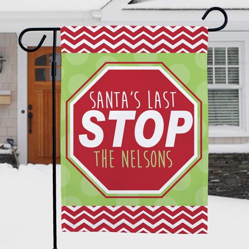 Santa Garden Flag | Personalized Christmas Flags