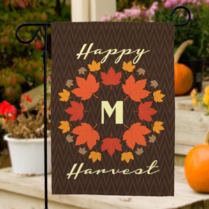 Personalized Happy Harvest Garden Flag | Personalized Garden Flags
