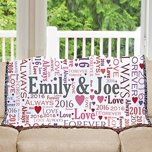 Loving Couple Word-Art Afghan 83082645