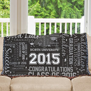 Graduation Word-Art Afghan