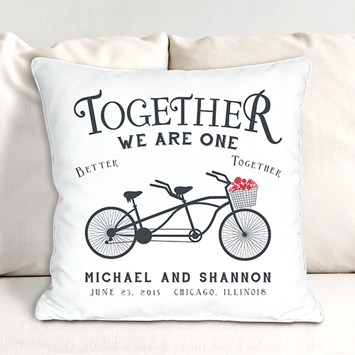 Together We Are One Throw Pillow | Valentine Keepsake Gifts