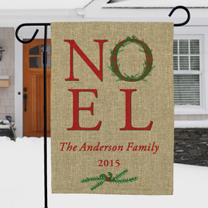 Burlap Garden Flag | Personalized Christmas Flags