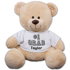 #1 Grad Personalized Teddy Bear