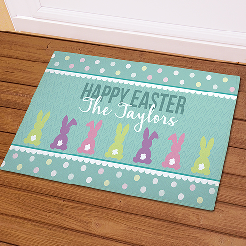 Bunny Tails Personalized Doormat | Personalized Easter Doormat