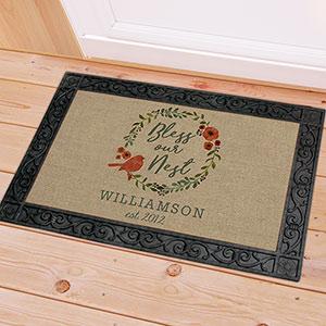 Bless Our Nest Personalized Doormat | Gifts for Housewarming