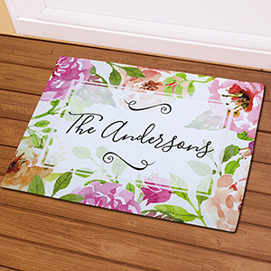 Personalized Floral Watercolor Doormat 831112327X