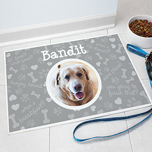 Personalized Photo Pet Mat | Personalized Pet Food Mat