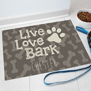 Personalized Dog Bone Pet Mat | Personalized Pet Mat