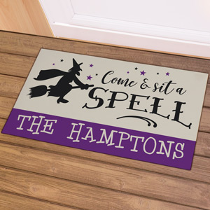 Personalized Come and Sit A Spell Doormat | Personalized Doormat