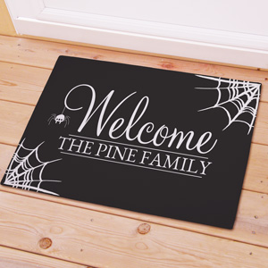 Personalized Spider Web Welcome Doormat