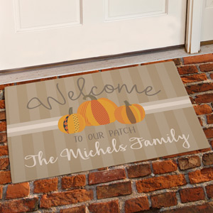 Welcome To Our Patch Doormat | Personalized Doormat