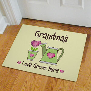 Personalized Love Grows Doormat | Personalized Grandma Gifts