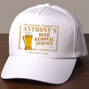 Custom Printed Beer Removal Service Hat
