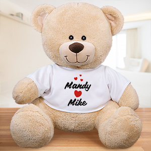 Personalized I Love You Teddy Bear | Personalized Valentine's Bear