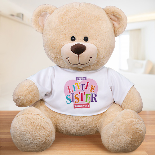 Big Sister Heart Personalized Teddy Bear | Big Sister Gifts from Baby