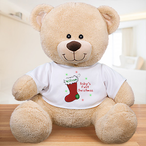 Personalized Baby's First Christmas Teddy Bear | Baby's First Christmas Gifts