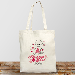 Personalized Flower Girl Tote Bag | Personalized Flower Girl Bags