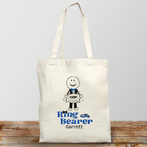 Personalized Ring Bearer Tote Bag | Personalized Ring Bearer Bag