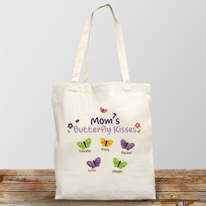 Butterfly Kisses Personalized Canvas Tote Bag 833962