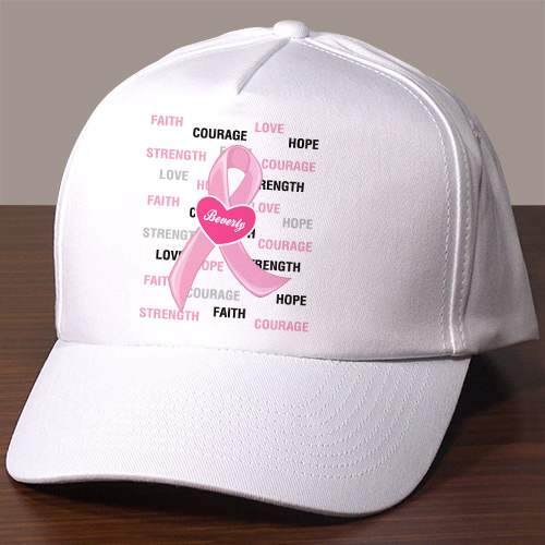 Hope and Love Personalized Breast Cancer Awareness Hat 836636