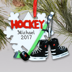 Hockey Player Personalized Ornament | Personalized Christmas Ornaments For Kids | Personalized Sports Ornaments