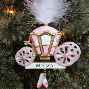 Personalized Princess Carriage Ornament | Personalized Christmas Ornaments For Kids