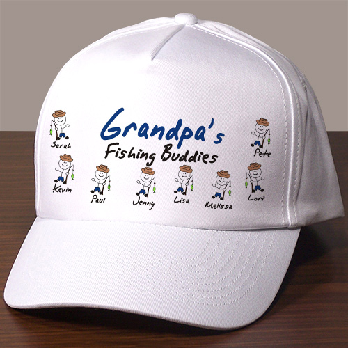 Personalized Fishing Buddies Hat | Personalized Gifts For Grandpa