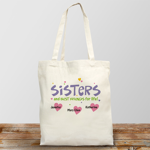 Personalized Best Friends for Life Canvas Tote Bag 844672