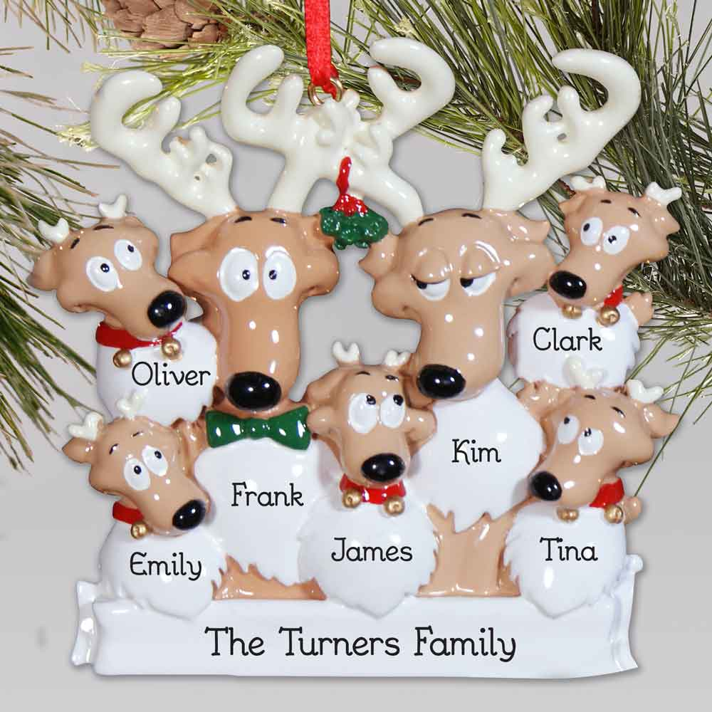 Personalized Reindeer Family Ornament | Personalized Family Christmas Ornaments