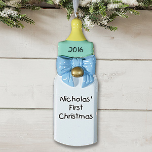 Personalized Baby's First Christmas Ornament for a Baby Boy 84693