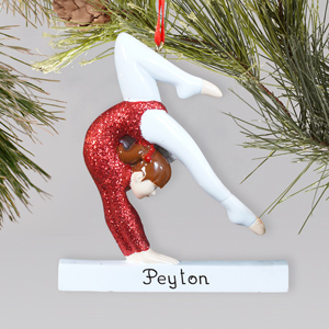 Personalized Gymnast Ornament | Personalized Gymnastics Ornament
