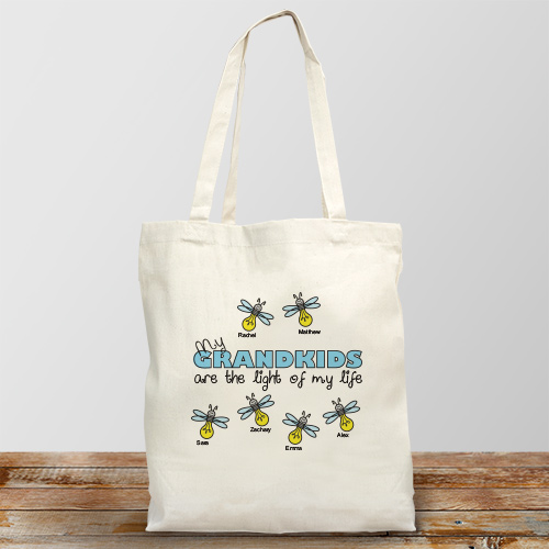 Personalized Light of My Life Tote Bag | Personalized Totes