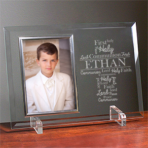 Engraved First Communion Word-Art Glass Frame 85101268X