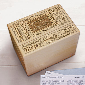 Favorite Recipes Word-Art Recipe Box